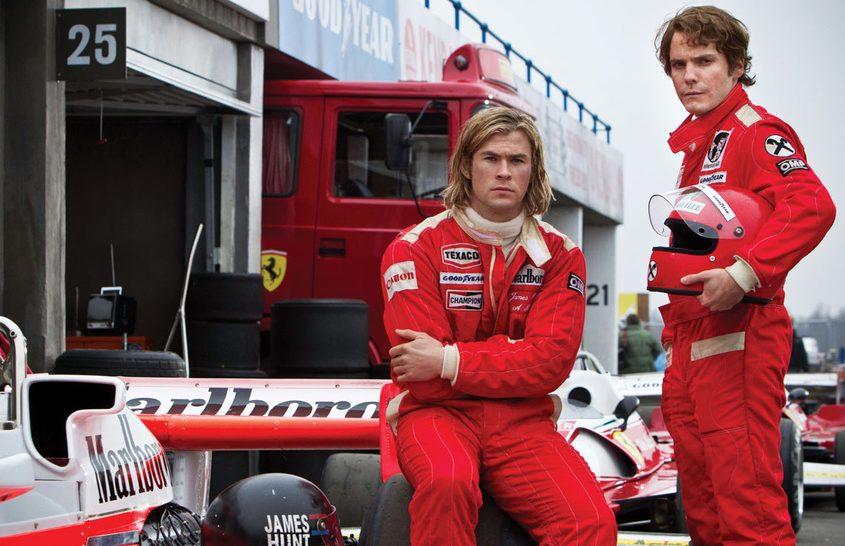 Ron Howard, il resto del cast di 'Rush', piloti ed auto presenti a Roma per la premiere.
