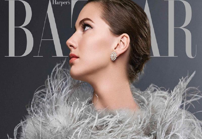 Emma Ferrer, la bella nipotina di Audrey Hepburn, debutta sulla cover di Harper's Bazar