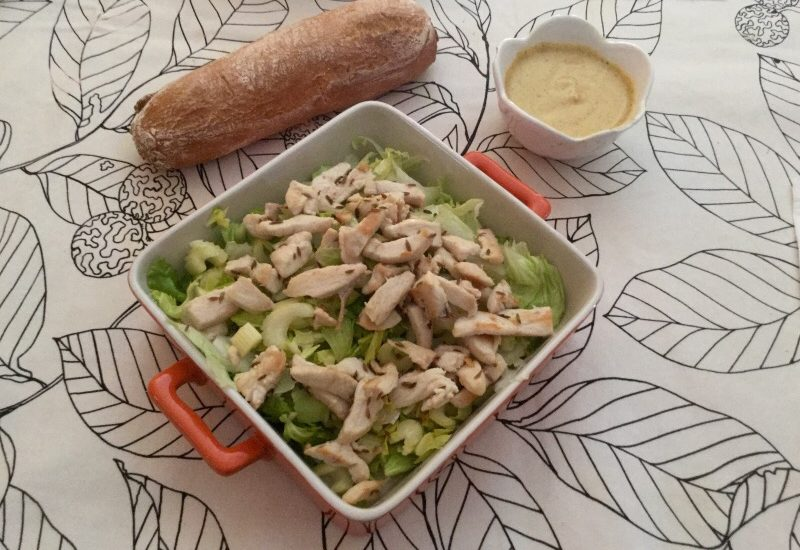 Insalata di pollo alle spezie