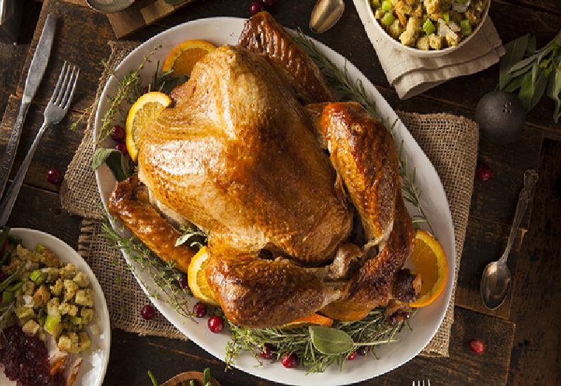 In tavola il tacchino per festeggiare il Thanksgiving Day